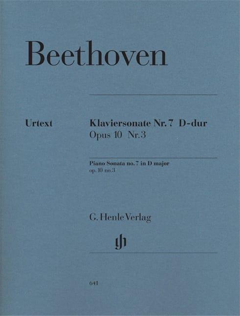 BEETHOVEN - Sonata For Piano No. 7 D major Opus 10-3 - Partition - di-arezzo.com