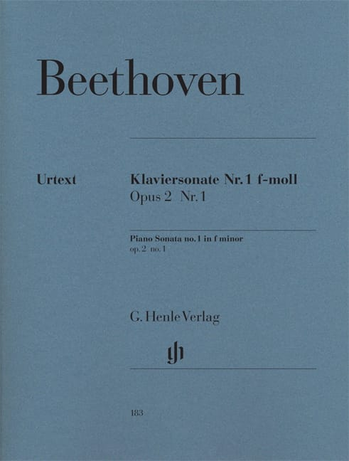 Sonate n° 1 en fa mineur Opus 2-1 - BEETHOVEN - laflutedepan.com