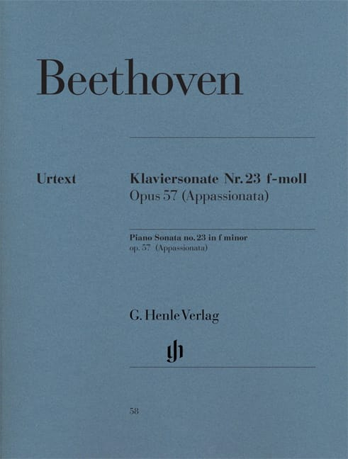 BEETHOVEN - Sonata No. 23 in F minor Opus 57 - Partition - di-arezzo.co.uk