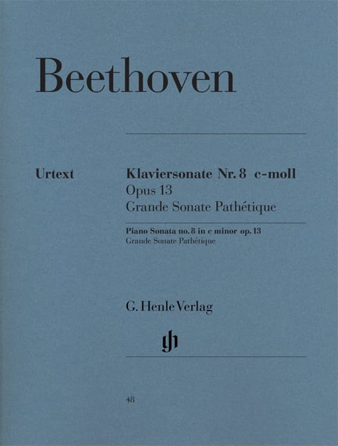 BEETHOVEN - Sonata No. 8 in C minor Opus 13 - Partition - di-arezzo.co.uk