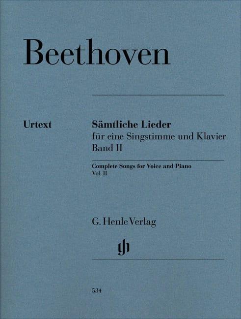 BEETHOVEN - Sämtliche lieder. Volume 2 - Partition - di-arezzo.com