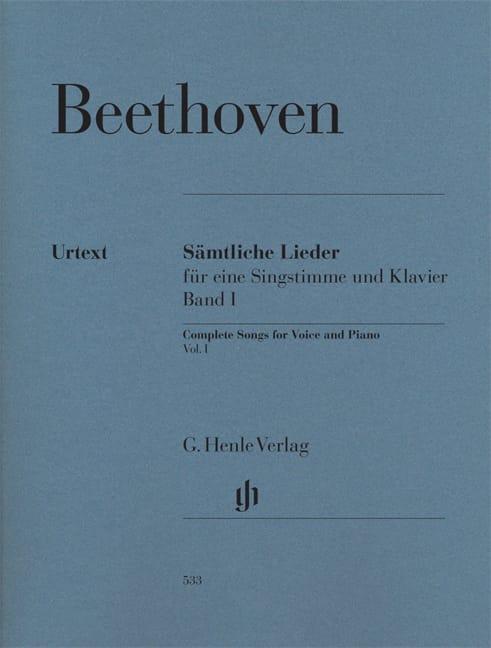 BEETHOVEN - Sämtliche lieder. Volume 1 - Partition - di-arezzo.co.uk