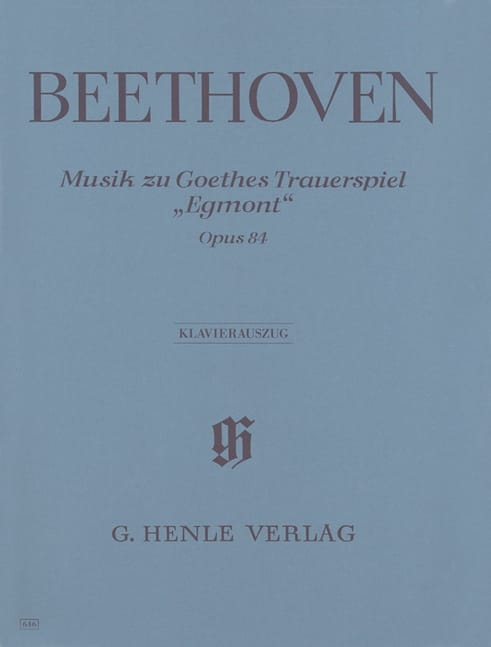 BEETHOVEN - Musik Zu JWV Goethes Trauerspiel Egmont Op. 84 - Partition - di-arezzo.co.uk