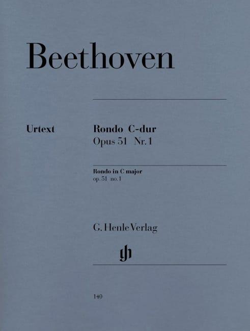 Rondo Do Majeur Opus 51-1 - BEETHOVEN - Partition - laflutedepan.com