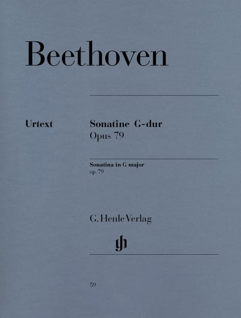 BEETHOVEN - Sonatine for piano in G major Opus 79 - Partition - di-arezzo.co.uk
