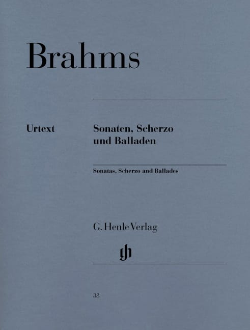 BRAHMS - Sonatas, Scherzo and Ballads - Partition - di-arezzo.co.uk