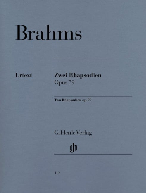 BRAHMS - 2 Rhapsodies Opus 79. - Partition - di-arezzo.com