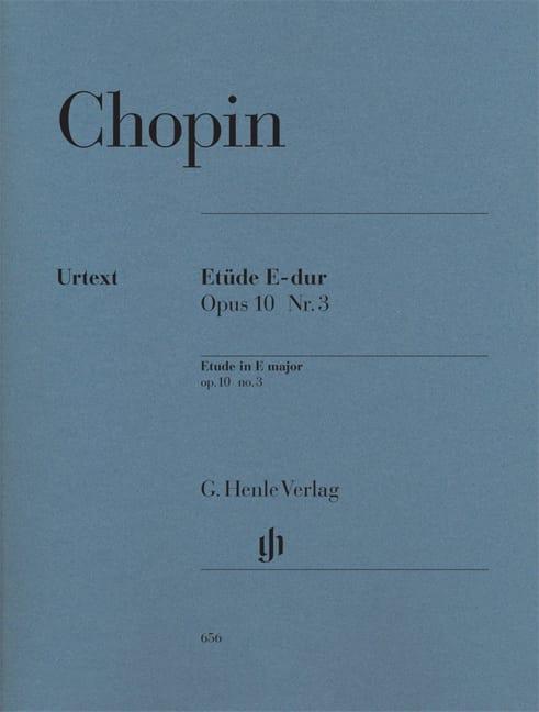 Etude Mi Majeur Opus 10-3 - CHOPIN - Partition - laflutedepan.com