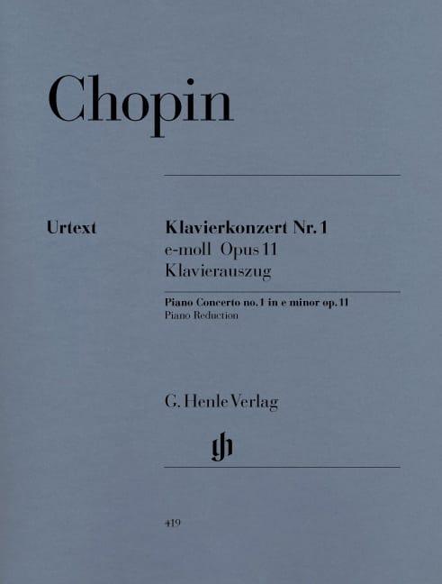 CHOPIN - Piano Concerto No. 1 in E minor Opus 11 - Partition - di-arezzo.co.uk