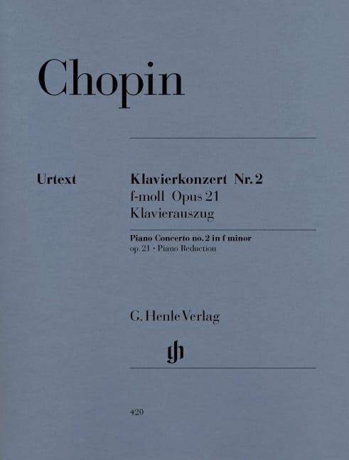 CHOPIN - Piano Concerto No. 2 in F Minor Opus 21 - Partition - di-arezzo.co.uk