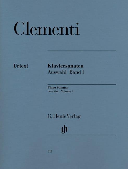 Sonates choisies. Volume 1 - CLEMENTI - Partition - laflutedepan.com