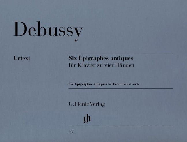 6 Epigraphes Antiques. 4 Mains - DEBUSSY - laflutedepan.com