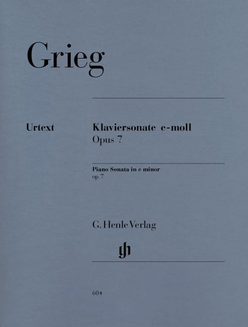 Edward Grieg - Piano Sonata in E Minor Opus 7 - Partition - di-arezzo.co.uk