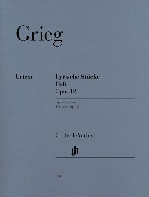 Edward Grieg - Lyrische Stücke Heft 1 Opus 12 - Partition - di-arezzo.co.uk