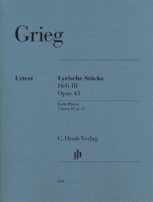 Edward Grieg - Lyrische Stücke Heft 3 Opus 43 - Partition - di-arezzo.co.uk
