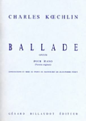Ballade Opus 50 - Charles Koechlin - Partition - laflutedepan.com
