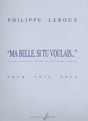 Philippe Leroux - My beauty, if you wanted ... - Partition - di-arezzo.com
