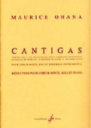 Maurice Ohana - Cantigas - Partition - di-arezzo.com