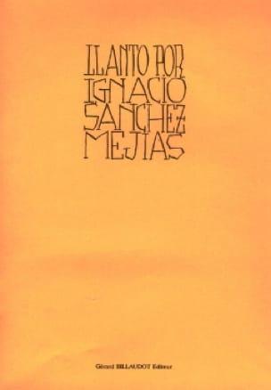Maurice Ohana - Llanto Por Ignacio Sanchez Meijas - Partition - di-arezzo.com