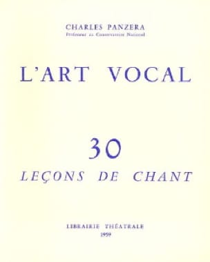 Charles Panzera - Vocal Art 30 Singing Lessons - Livre - di-arezzo.co.uk