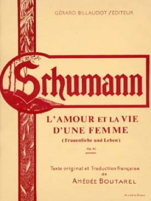 SCHUMANN - Love and Life of an Opus Woman 42 - Partition - di-arezzo.co.uk