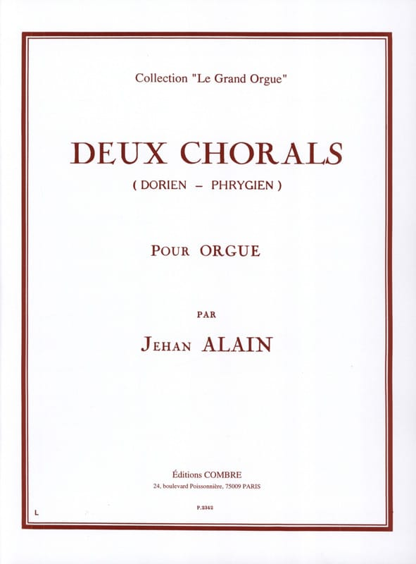 Jehan Alain - 2 Dorian-Phrygian Chorales - Partition - di-arezzo.co.uk