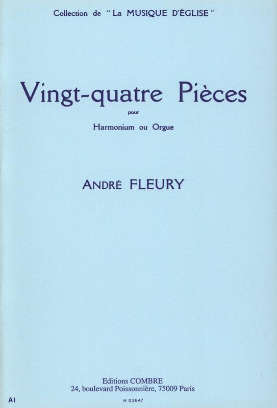 24 Pièces - André Fleury - Partition - Orgue - laflutedepan.com