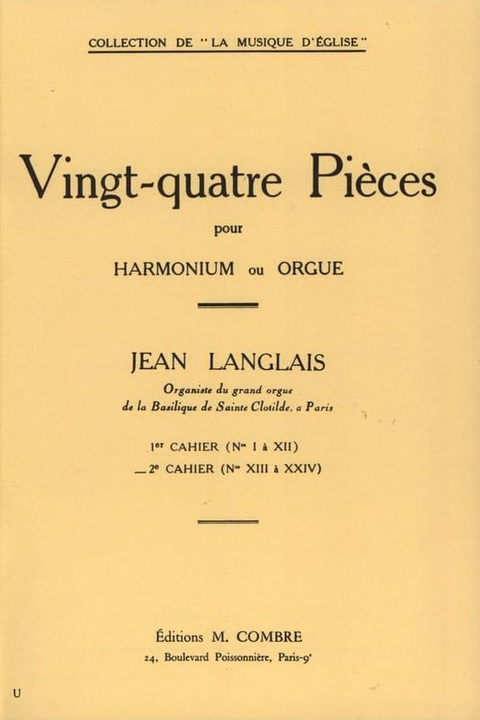 Jean Langlais - 24 piezas Opus 6. 2.o libro de trabajo - Partition - di-arezzo.es