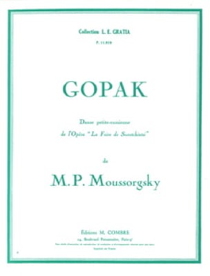 Modest Moussorgsky - gopak - Partition - di-arezzo.es