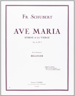 SCHUBERT - Ave Maria Opus 52-6. Voix haute - Partition - di-arezzo.fr