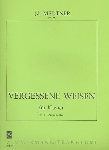 Nicolai Medtner - Danza Rustica Op. 38-5 - Partition - di-arezzo.es
