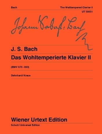 Le Clavier Bien Tempéré Volume 2 - BACH - laflutedepan.com