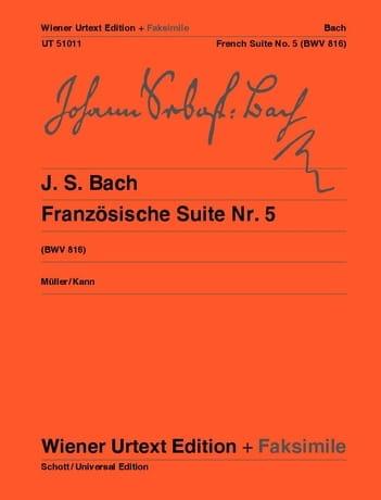Suite Française n°5 + fac-similé - BACH - Partition - laflutedepan.com