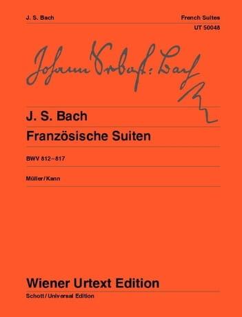 Suites Françaises BWV 812-817 - BACH - Partition - laflutedepan.com
