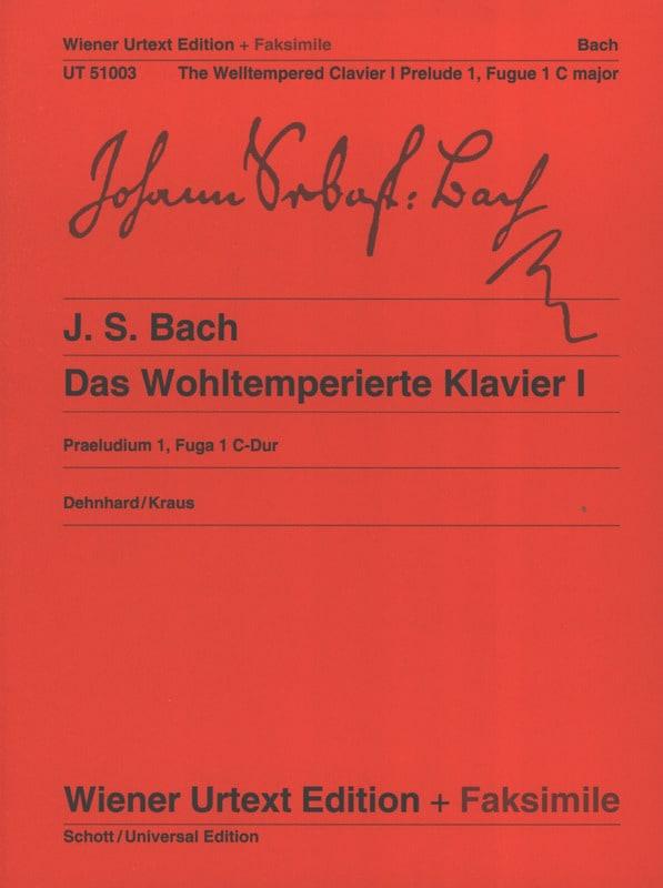 BACH - Prelude and Fugue In C Major BWV 846 fac simile - Partition - di-arezzo.co.uk