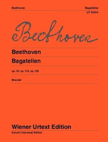 BEETHOVEN - Bagatelles Opus 33, 119, 126 - Partition - di-arezzo.co.uk