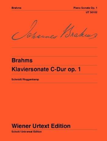 Sonate pour Piano n° 1 Opus 1 - BRAHMS - Partition - laflutedepan.com