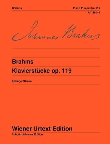 Pièces Opus 119 - BRAHMS - Partition - Piano - laflutedepan.com