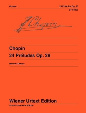 24 Préludes Opus 28 - CHOPIN - Partition - Piano - laflutedepan.com