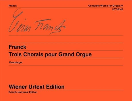 César Franck - 3 Chorales For Grand Orgue - Partition - di-arezzo.co.uk