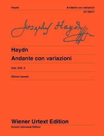 Andante Con Variazioni. Hob 17-6 - HAYDN - laflutedepan.com