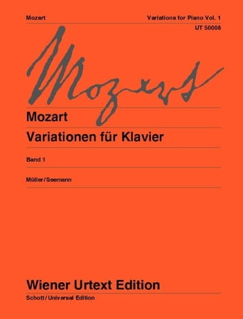 Variations pour piano. Volume 1 - MOZART - laflutedepan.com