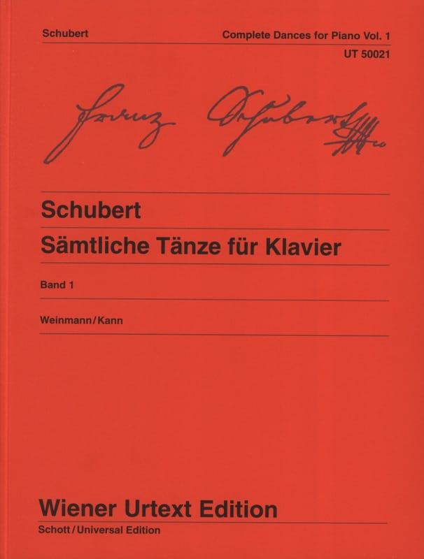 Danses pour piano. Volume 1 - SCHUBERT - Partition - laflutedepan.com