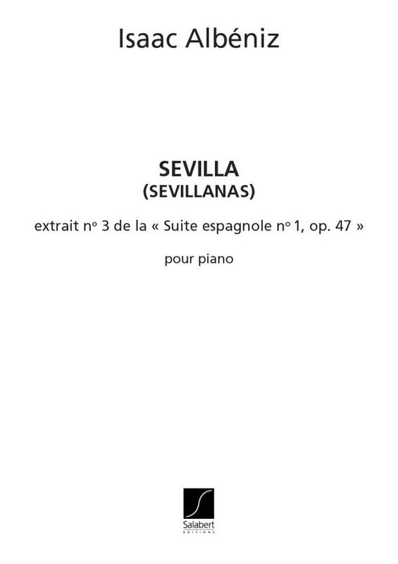 Sevilla - ALBENIZ - Partition - Piano - laflutedepan.com