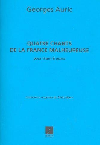 4 Chants de la France Malheureuse - Georges Auric - laflutedepan.com
