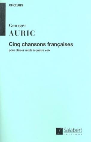 5 Chansons françaises - Georges Auric - Partition - laflutedepan.com