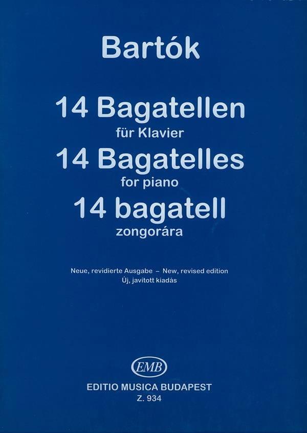 14 Bagatelles Opus 6 - BARTOK - Partition - Piano - laflutedepan.com