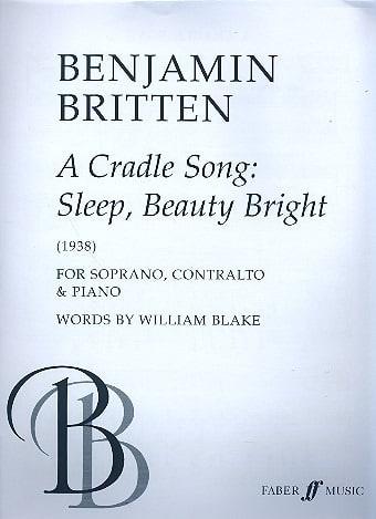 A cradle song - BRITTEN - Partition - Duos - laflutedepan.com