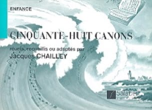 Jacques Chailley - 58 Cannons 2 Voice. - Partition - di-arezzo.co.uk
