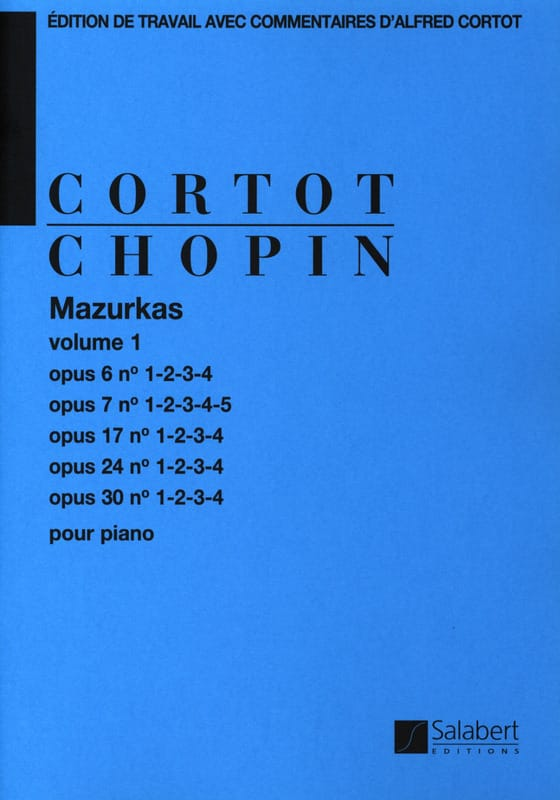 CHOPIN - Mazurkas. Volume 1 - Partition - di-arezzo.com